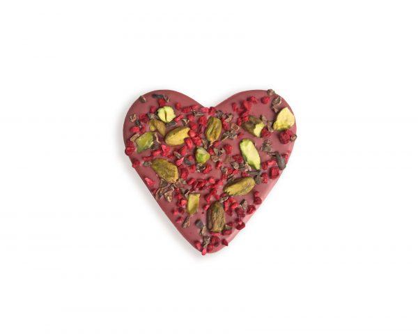 ruby chocolate heart